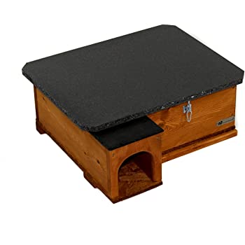 Riverside Woodcraft Hedgehog House Golden Brown
