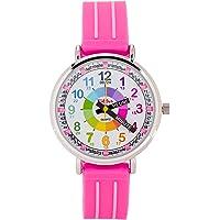 KIDDUS Montre Bracelet Éducative pour Enfants, Fille. Time Teacher Analogique avec Exercices. Mécanisme en Quartz…