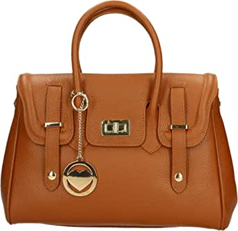 Chicca Borse Bag Borsa a Mano in Pelle Made in Italy 34x23x13 cm