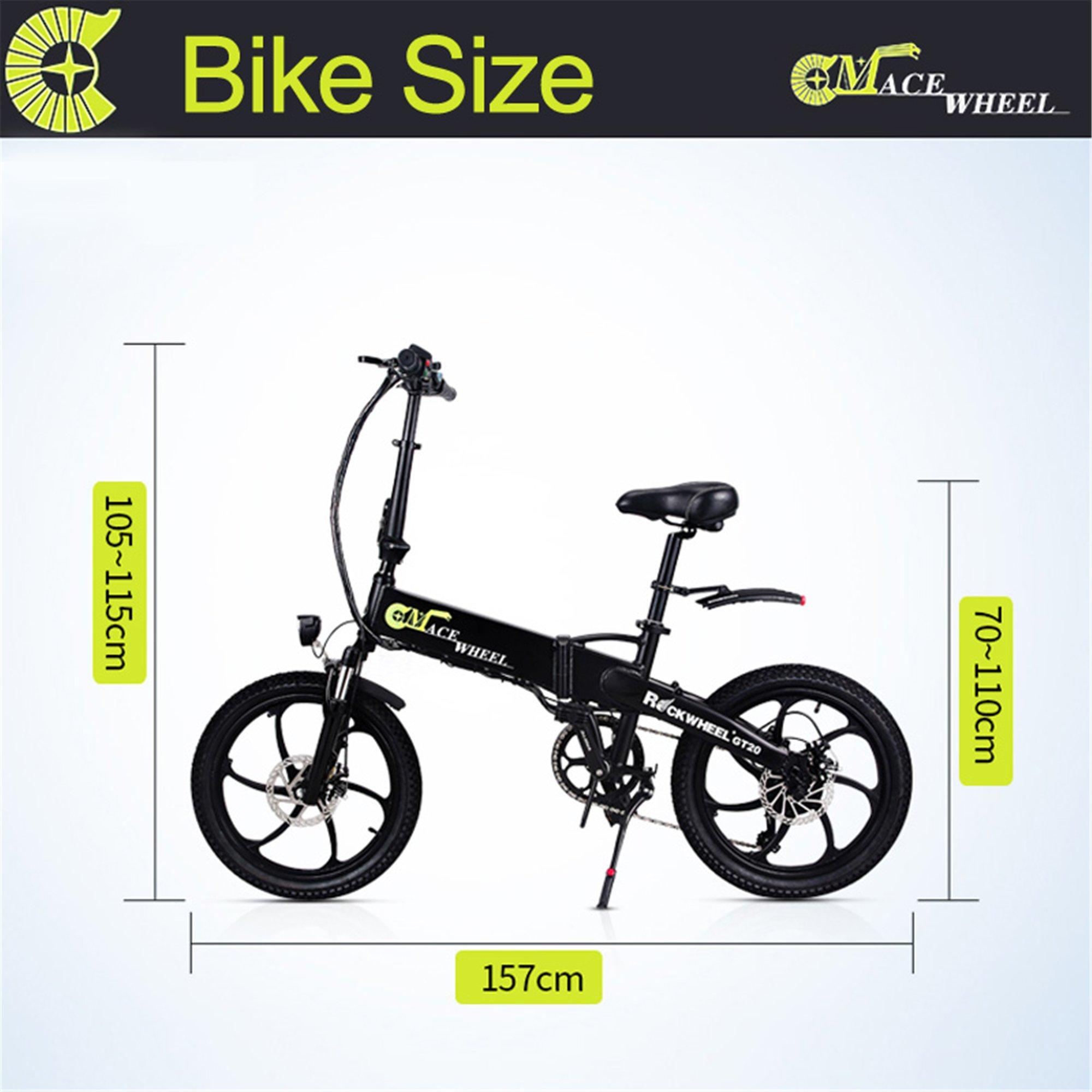 4a888bd6fbe Rockwheel GT20 48V 350W Folding Bike 20 inch Electric Mountain ...