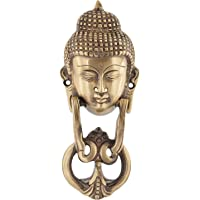 Ridhi Home & Decor - Antique Brass Buddha Face Door Knocker