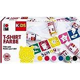Marabu 0308000000001 - Kids T-Shirt Farbe, 6 x 80 ml, Stoffmalfarbe für Kinder, für kreative Designs auf hellen Textilien, na