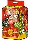 Floragard Aktiv-Tomaten- und Gemüseerde 20 L • hochwertige Spezialerde • mit 6-Monate-Langzeitdünger • für Tomaten, Chili, Zucchini, Gurken und anderes Gemüse