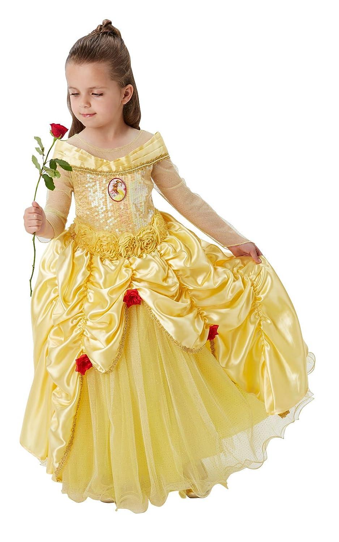 Rubies Official Disney Premium Belle Girls Fancy Dress Princess Beauty Childs Deluxe Costume