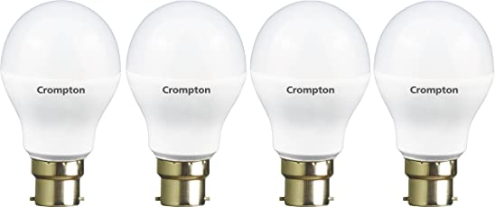 Crompton 5WDF B22 5-Watt LED Lamp (Cool Day Light and Pack of 4)