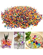 Crystal Soil Jelly Water Beads, (Multicolour) 80g - Pack of 10000 Pieces (Approximately)