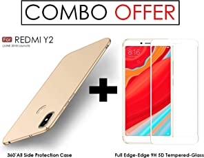WOW Imagine Redmi Y2 Ultra-Slim Fit, Non-Slip, Anti-Scratch Shell Lightweight Rubberised Matte Hard Case Back Cover (Champagne Gold)