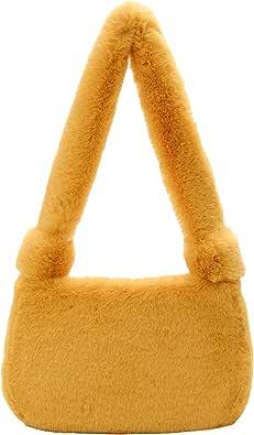 HAIWILL Plüsch Umhängetasche Flauschige Handtasche Damen Winter Schultertasche Handytasche PlüSchtasche Fluffy Bag Clutche GeldböRse Handy Tasche