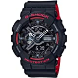 Casio Men's Black Dial Resin Analog-Digital Watch - GA-110HR-1ADR