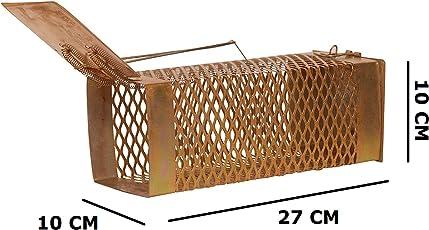 Bridge2Shopping Iron Rat and Mouse Trap Cage/Catcher, 27cm (Copper)