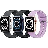 Supore Apple Watch Correa, Compatible con Apple Watch 38mm 42mm 40mm 44mm Correas, Correa de Silicona Suave de Deportiva Repu