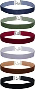 Mudder 6/8 Pollice Girocollo Collana di Velluto Donna del Choker Nastro Classico Collare Set, 6 Pezzi