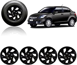 Auto Pearl 14-inch Black Wheel Cover Cap for Maruti Suzuki Swift Dzire Type-3 (Set of 4)