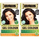 INDUS VALLEY Herbal Natural Hair Colour (Dark Brown OTP, 3.0, 35g X 2) Set of 2