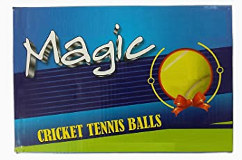 QUINERGYS Hand- Seamed Sports Yellow Tennis Balls Sports Tournament Outdoor Fun Cricket Ball