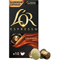 L'OR Origins Colombia Intensity 8 Nespresso Compatible Coffee Pods (Pack of 10, Total 100 Coffee Capsules)