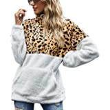 Tuopuda Mujer Sudadera Caliente y Esponjoso Tops Chaqueta Suéter Abrigo Jersey Mujer Talla Grande Hoodie Larga Pullover Depor