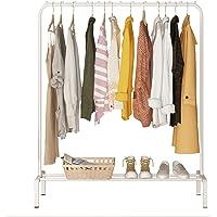 Yayi Porte-Manteaux en métal pour vêtements de Chambre avec étagère de Rangement inférieure pour boîtes à Chaussures…