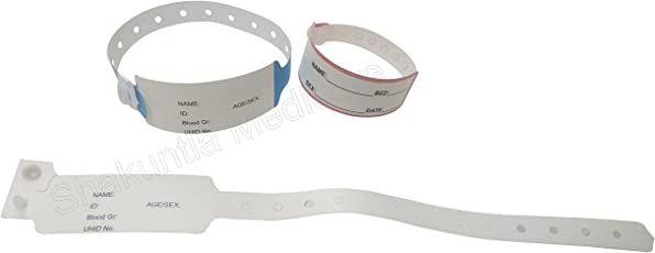 Patient Identification Band for Adult (100 PCS)(Color may be Different)