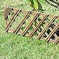 Beetumrandung Weide Beeteinfassung Beetabgrenzung Weidenzaun von kagm auf Du und dein Garten