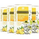 Twinings Superblends Defense 20 Bustine di Tè – Confezione da 4 – Una miscela vibrante e unica con tè verde, zenzero, tè verd