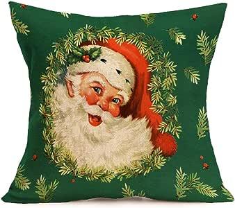 43cm*43cm + federe, Kingko® Natale decorazione festival federa auto Cafe Shop cuscino, P, taglia unica