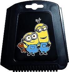 Auto Eiskratzer Eisschaber Minions Bob Kevin Stuart schwarz mit Gummilippe