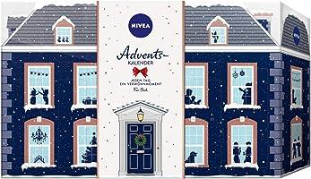 NIVEA Adventskalender 2019 für 24 Verwöhnmomente, Weihnachtskalender mit ausgewählten Pflegeprodukten, Pflegeset für die...