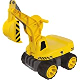 Big-800055811 Excavadora de Juguete con Asiento para el niño, Color Amarillo (800055811)