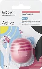 eos Active Lip Balm Fresh Grapefruit SPF 30, Lippenpflege mit Sonnenschutz, schützende Feuchtigkeits-Pflege, für zarte & gesunde Lippen, wasserfest, 1 x 7 g