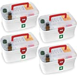 GONATURS Rectangular Medicine Box, Medical Box, First aid Box, Multi Purpose Box, Multi Utility Storage with Handle (Regular,