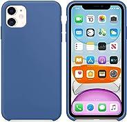 Microsonic 21764 Apple iPhone 11 6.1 inç Kılıf Liquid Lansman Silikon Çini Mavisi