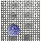VSUSN Duschmatte Rund Duscheinlage PVC Badezimmermatte rutschfest Duschwanneneinlage mit Saugn/äpfe Duschmatten f/ür Badezimmer Maschinenwaschbar 55x55 cm,Blau