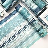 Lot de 12 rubans adhésifs Washi Tape - Ruban adhésif décoratif pour bricolage et scrapbooking