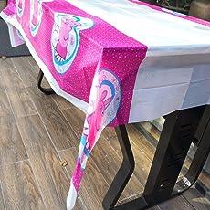 Partymane Peppa Pig theme Table Cover (Multicolour, Medium)