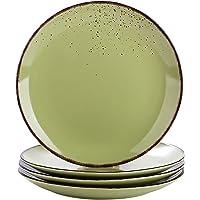 vancasso, Série Navia, Assiette Plate à Dîner,4 Pièces, Grande Assiette en Céramique- 27cm