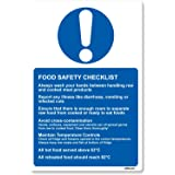 Food Safety Checklist Sticker Sign for Kitchen 13x20cm Health & Safety by stika.co