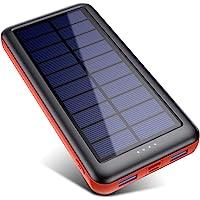 QTshine Solar Powerbank 26800mAh,Solarladegerät mit Eingängen Type C,Power Bank Externer Akku Fast Charge Tragbares…