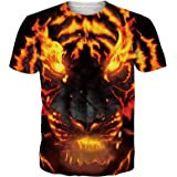 chicolife Unisex Mens 3D T Shirts Funny Printed T-Shirt Round Neck Short Sleeve Summer Casual Graphic Tees Shirt Top S-XXL