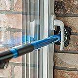ALLEGRA Sicherungsstange für die Fenstersicherung und Türsicherung, Einbruchschutz für Fenster und Türen (0,65m - 1,15m, Blau)