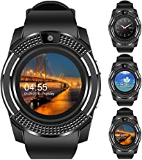 Technuv V8 Bluetooth Smartwatch with Sim & TF Card Support for Android iOS Mobile Phones