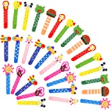Animali Segnalibro Coloratissimi 30 pezzi, Fumetto Colorati Carini Divertenti Bambini in Legno Idea con un Piccolo Metro…