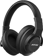 Noise Cancelling Kopfhörer, Mpow Bluetooth Kopfhörer Over Ear mit aktiver Rauschunterdrückung (ANC) 20 Stunden Laufzeit, ntegriertem CVC 6.0 Mikrofon Freisprechen für Smartphones / PC / Laptops, Schwarz