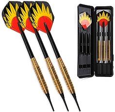 Dartpfeile Steel,Soft Dart Pfeile 21,20,18,16 Gramm Darts mit Stahlspitze Schaft Winline
