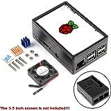Makerfire Raspberry Pi 3 Case Protective Case, Raspberry Pi 3.5 inch Display Case, with Mini Cooling Fan Heatsink Kit…