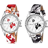 The Shopoholic Analogue Women's Watch (Multicolour Dial) (Pack of 2)