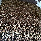 Británica Choice lino Juego de sábana 4Pcs Nuevo Gran Calidad de impresión animal tigre Tamaño Super King (30cm) gota Fit colchón 650-thread-count satén