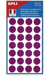 15 mm rund farbig 672 Stück agipa Markierungspunkte Durchmesser