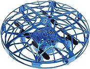 GCDN Drone controlado a Mano para niños o Adultos, helicóptero Volador Mini dron RC Drone Infrarrojo Inducción Quadrocopter RC Juguetes para niños, Azul, Tamaño Libre