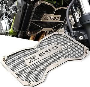 Qazwsx Motorrad Grill Kühler Abdeckung Öl Wasserkühler Für Kawasaki Z650 2017 2018 Silver Sport Freizeit